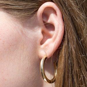 Brandy Melville Gold Chunky Hoop Earrings 💛